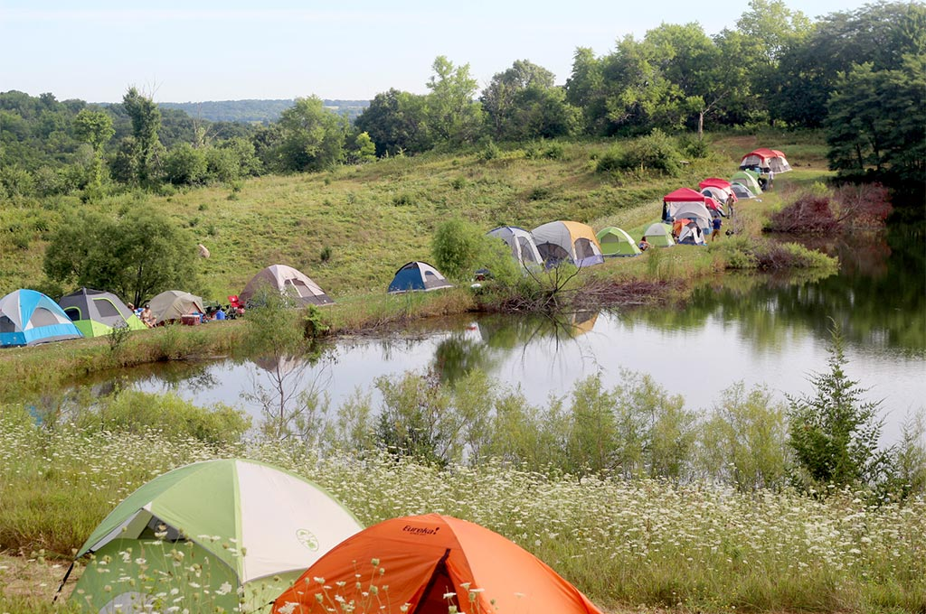 Campers at Hinterland Music Festival