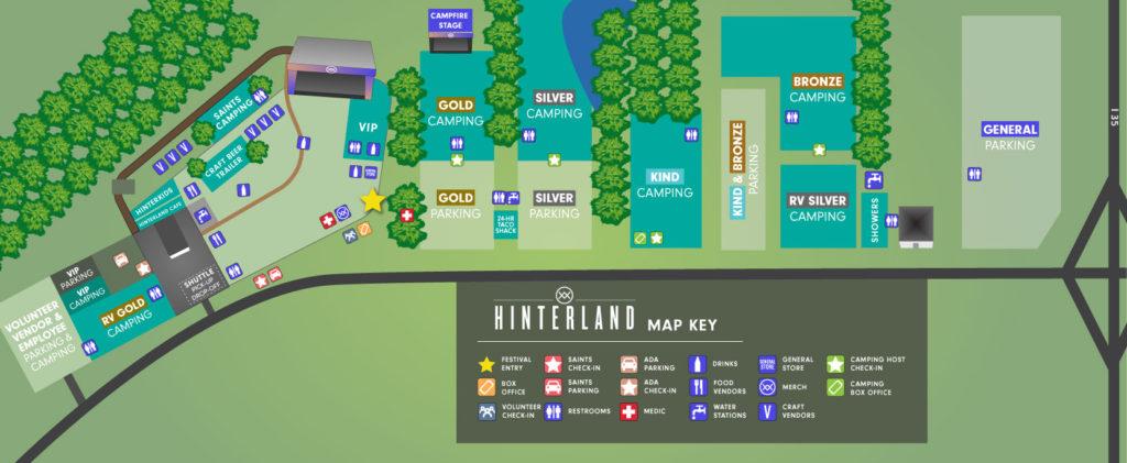 Hinterland festival map