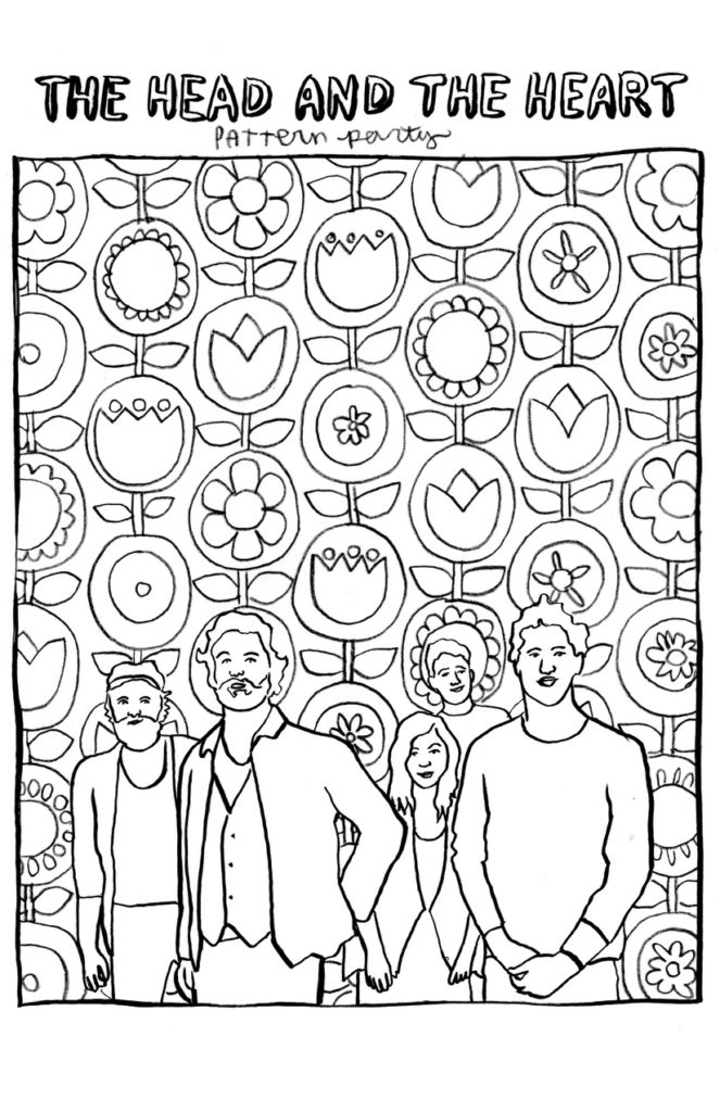 The Head and the Heart coloring page
