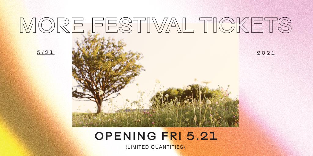 More Festival Tickets